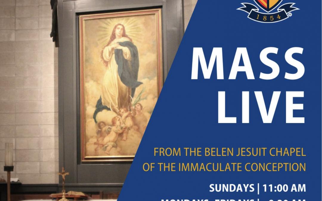 Daily Online Mass from Belen Jesuit Preparatory School (Miami, FL)