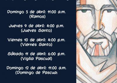Celebración virtual  de la Semana Santa