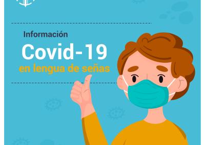 Prevención Covid-19 en lengua de señas